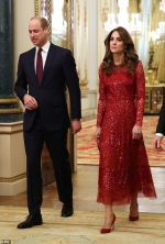 Catherine, Duchess of Cambridge In Needle & Thread @ Reception  At Buckingham Palace in London