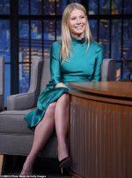 Gwyneth Paltrow In  Galvan @  Late Night With Seth Meyers