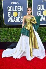 Jennifer Lopez  In Valentino  Couture @ 2020 Golden Globe Awards