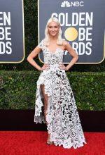 Zanna Roberts-Rassi In Oscar De La Renta @ 2020 Golden Globe Awards