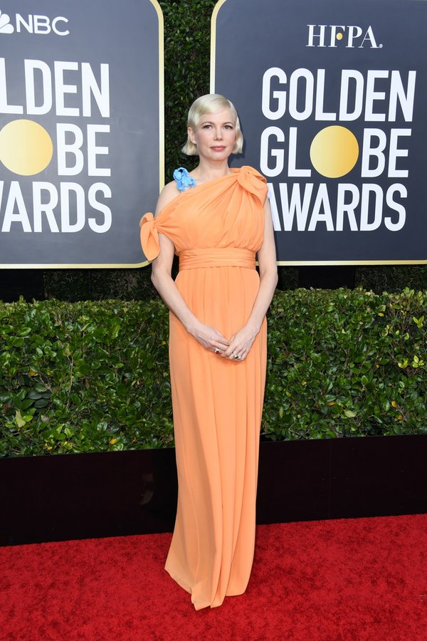 Image result for Golden Globes 2020 Michelle Williams dress