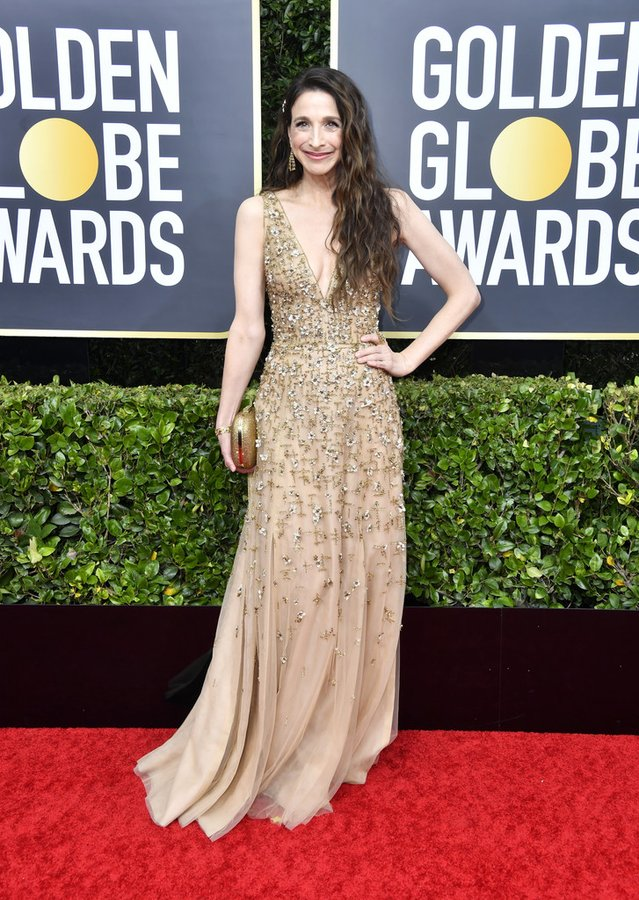 marin-hinkle-in-j-mendel-2020-golden-globe-awards