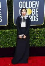 Awkwafina  In Christian Dior  Couture @ 2020 Golden Globe Awards