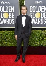 Brad Pitt  In Brioni @ 2020 Golden Globe Awards