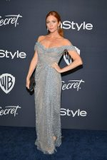 Brittany Snow In Marchesa @2020 InStyle And Warner Bros. Golden Globe Awards After-Party