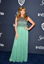 Connie Britton In J.Mendel @ 2020 Warner Bros. / InStyle Golden Globe Awards After Party. #GoldenGlobes