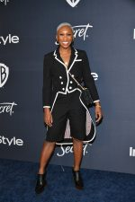 Cynthia Erivo In Thom Browne @  2020 InStyle And Warner Bros. Golden Globe Awards After-Party