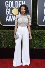 Jeannie Mai  In Elisabetta Franchi  @ 2020 Golden Globe Awards