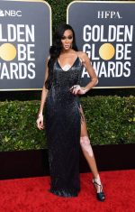 Winnie Harlow In LaQuan Smith @ 2020 Golden Globe Awards