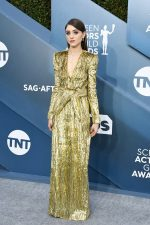 Natalia Dyer In Saint Laurent by Anthony Vaccarello  @ 2020 SAG Awards