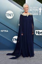 Glenn Close  In Oscar De La Renta   @ 2020 SAG Awards