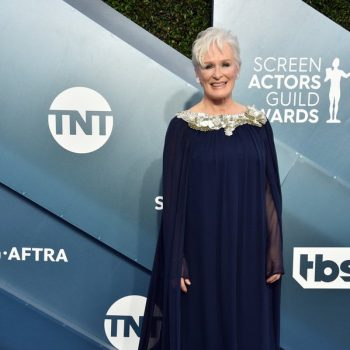 glenn-close-in-oscar-de-la-renta-2020-sag-awards