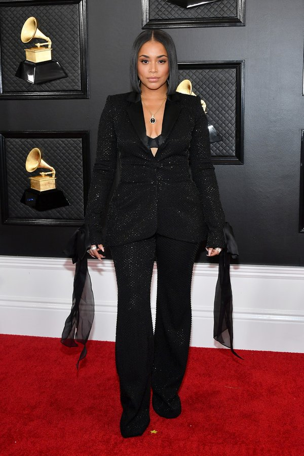 lauren-london-in-pamella-roland-2020-grammy-awards