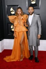 Chrissy Teigen In Yanina Couture  @  2020 Grammy Awards