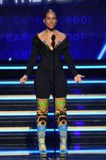 Alicia Keys In Atelier  Versace Bodysuit Hosting @ 2020 Grammy Awards