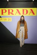 Barbara Palvin In  Prada  @ Prada  Milan Menswear Fashion Week Fall/Winter 2020/2021