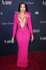 Cardi B  In Nicolas Jebran Couture  @  2020 Pre-Grammy Gala