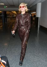 Cate Blanchett in  Leather Boilersuit  @ LAX Airport