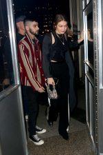 Gigi Hadid & Zayn Malik  Arriving @ Eleven Madison Park to celebrate his 27th birthday