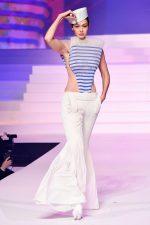 Gigi Hadid  Walks Runway @ Jean-Paul Gualtier Haute Couture Show at Paris Fashion Week