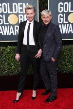 Ellen DeGeneres & Portia de Rossi  In Celine @ 2020 Golden Globe Awards