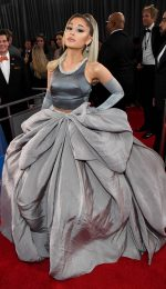 Ariana Grande In  Grey Outfit  @ 2020 Grammy Awards