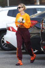 Hailey Baldwin Rocking Ivy Park  x Adidas  In Los Angeles