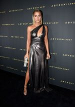 Khloe Kardashian  In Abyss Metallic Gown  @ Abyss By Abby Arabian Nights Collection Launch Party in LA