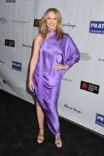 Kylie Minogue In Purple Satin Gown @ AAA Arts Awards Gala In New York