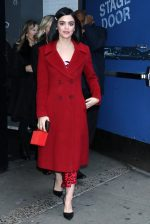 "Lucy Hale In Red Coat  Outside the ""Good Morning America"" In New York"