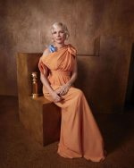 Michelle Williams In   Louis Vuitton @ Golden Globes 2020 Official Portrait