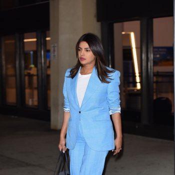 priyanka-chopra-in-blue-suit-newark-airport-in-new-york