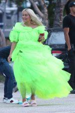 Rita Ora  Shooting a Deichmann Collection Ad in Miami