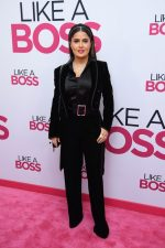 "Salma Hayek  In Saint Laurent @  ""Like A Boss"" New York Premiere"