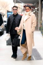 Priyanka Chopra In Max Mara Coat  @ Lunch Date  With  Nick Jonas In NY