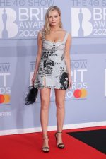 Laura Whitmore In Clio Peppiatt Dress  @ 2020 BRIT Awards