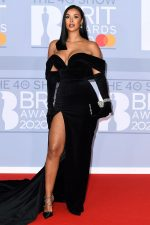 Maya Jama  In  Alonuko  Velvet Gown @ 2020 BRIT Awards