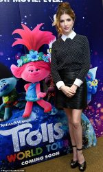 "Anna Kendrick Attends ""Trolls World Tour"" Photocall in Glendale"