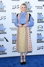 Greta Gerwig  In  Prada @ 2020 Film Independent Spirit Awards