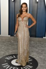 Jessica Alba In Atelier Versace @  2020 Vanity Fair Oscar Party