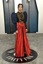 Camila Mendes  In Moschino @  2020 Vanity Fair Oscar Party.