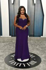 Mindy Kaling  In Reem Acra @  2020 Vanity Fair Oscar Party