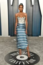 Laura Harrier  In Louis Vuitton @ 2020 Vanity Fair Oscar Party
