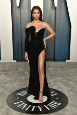 Shanina Shaik  In Nicolas Jebran  @  2020 Vanity Fair Oscar Party