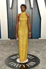 KiKi Layne  In Michael Kors  @ 2020 Vanity Fair Oscar Party