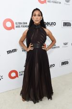 MJ Rodriguez In Antonio Grimaldi  @  2020 Elton John AIDS Foundation Academy Awards Viewing Party