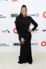 Garcelle Beauvais  In Jovani  @ 2020 Elton John AIDS Foundation Academy Awards Viewing Party.