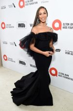 Leona Lewis  In Christian Siriano @ 2020 Elton John AIDS Foundation Academy Awards Viewing Party