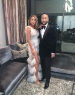 Chrissy Teigen & John Legend @ Beyoncé and Jay-Z's Oscars 2020 After Party