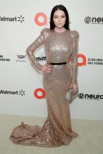 Michelle Trachtenberg  In Mark Zunino  @ 2020 Elton John AIDS Foundation Academy Awards Viewing Party.